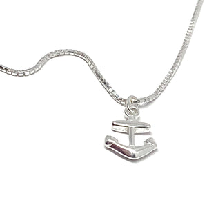 """MY LITTLE ANCHOR"" SILVER NECKLACE"