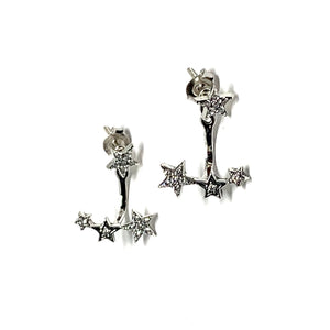 2-in-1 JACKET EARRINGS - DAZZLING STARS