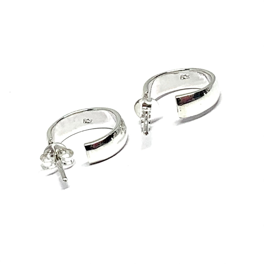 STERLING SILVER CIRCULAR STUD EARRINGS