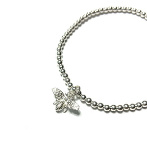 STERLING SILVER MY HONEY BEE BRACELET