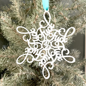 F 2020 SNOWFLAKE ORNAMENT