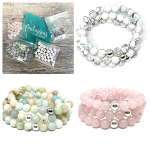 STONE MALA BRACELET DIY TAKE HOME KIT (3 BRACELETS)