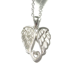 ANGEL DOUBLE WING STERLING SILVER NECKLACE