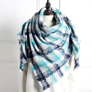 BLANKET SCARF - ICE