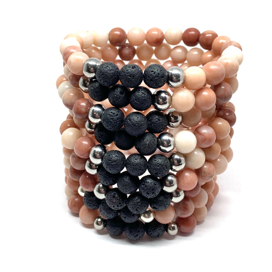 THE PEACH & LAVA MALA BRACELET