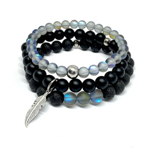 STONE MALA BRACELET DIY TAKE HOME KIT FIVE (3 BRACELETS)
