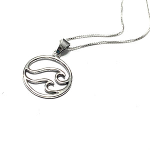 STERLING SILVER WAVE NECKLACE