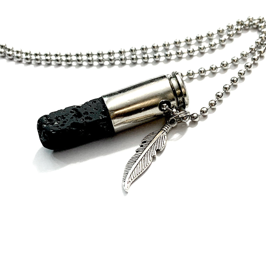 Bulletproof Lava Stone Necklace