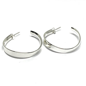 35MM x 5MM LIGHTWEIGHT STERLING SILVER HOOPS