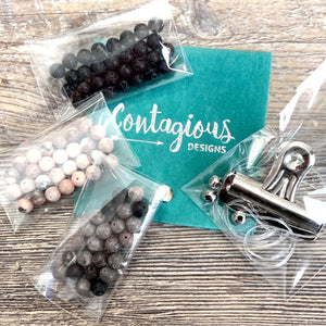 STONE MALA BRACELET DIY TAKE HOME KIT TWO (3 BRACELETS)