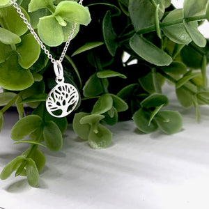 The Delicate Family Tree Silver Necklace