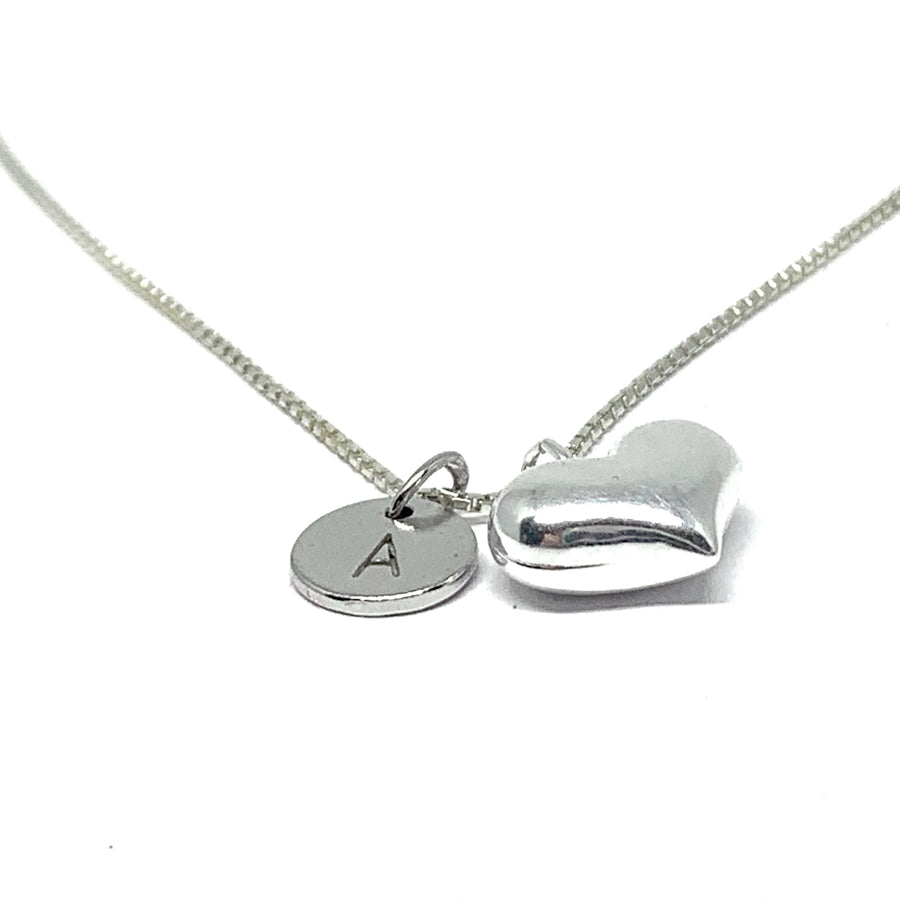 THE MELA CUSTOM INITIAL HEART NECKLACE