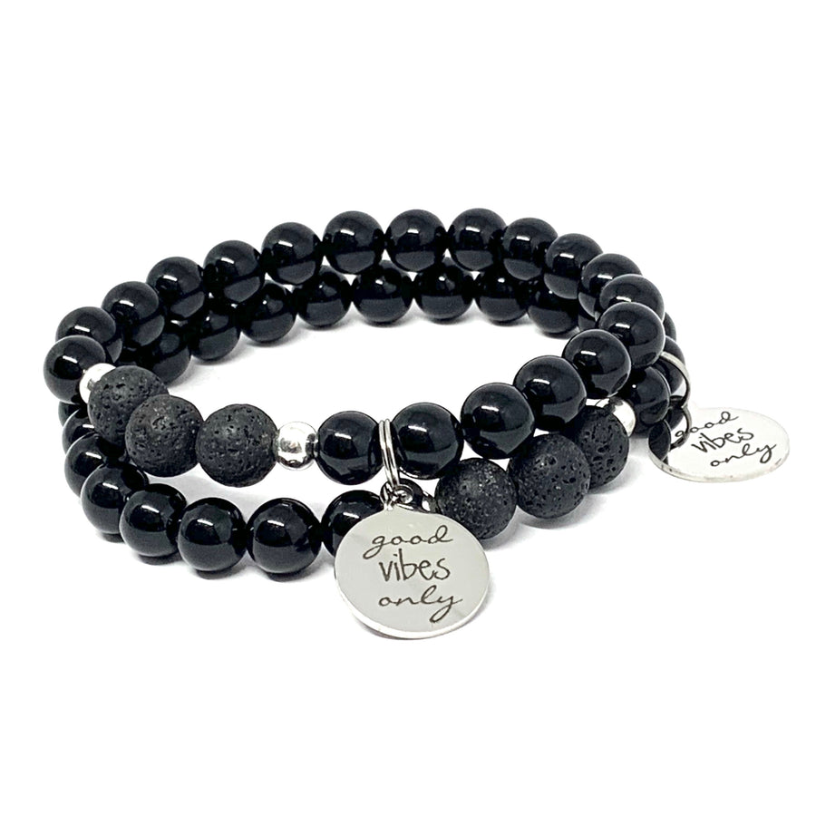 "THE ""GOOD VIBES ONLY"" MALA BRACELET"