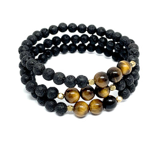 "THE ""GROUNDING"" LAVA MALA BRACELET"