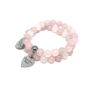 ROSE QUARTZ - LOVE YOU MORE BRACELET