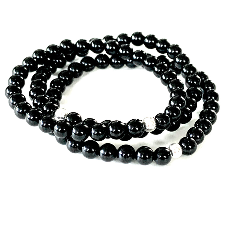 THE BLACKOUT ONYX MALA BRACELET