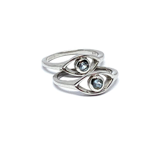 THE EVIL EYE STERLING SILVER RING