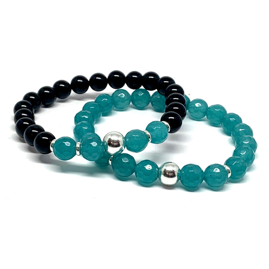 SIGNATURE 2 BRACELET MALA SET WITH STERLING SILVER