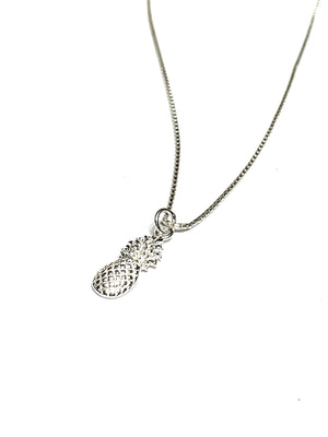 Sterling Silver Pineapple Necklace