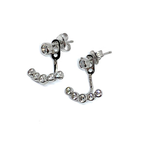 2-in-1 JACKET EARRINGS - SPARKLE DROP