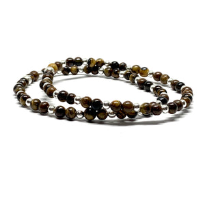 THE STERLING SILVER EYE OF THE TIGER MALA BRACELET