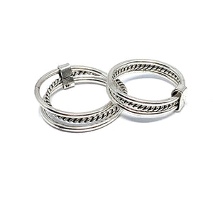 THE STERLING SILVER TRIPLE STACK RING