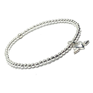 STERLING SILVER HEART IN HEAVEN BRACELET