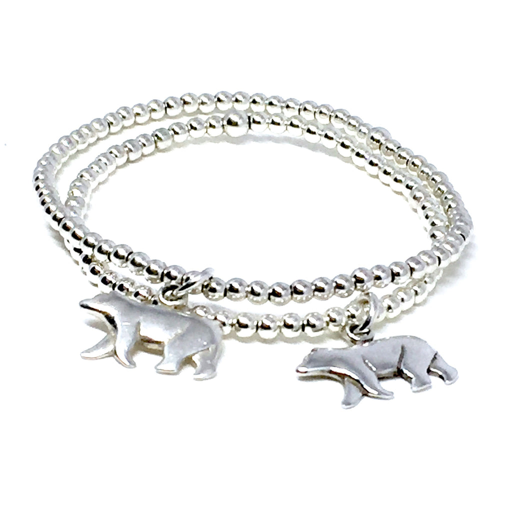 Mama Bear & Daughter Bear 3mm Bracelet Set