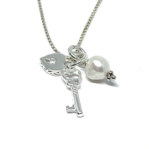 STERLING SILVER CHERISH ME NECKLACE