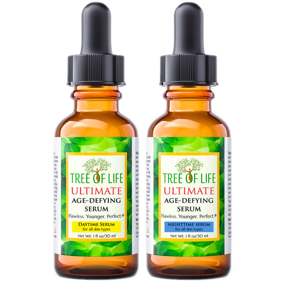Tree of Life Beauty Ultimate Daytime and Nightime Serum Combo Pack