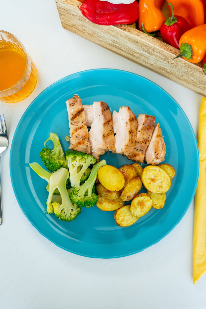 Greek Chicken Breast with Steamed Broccoli