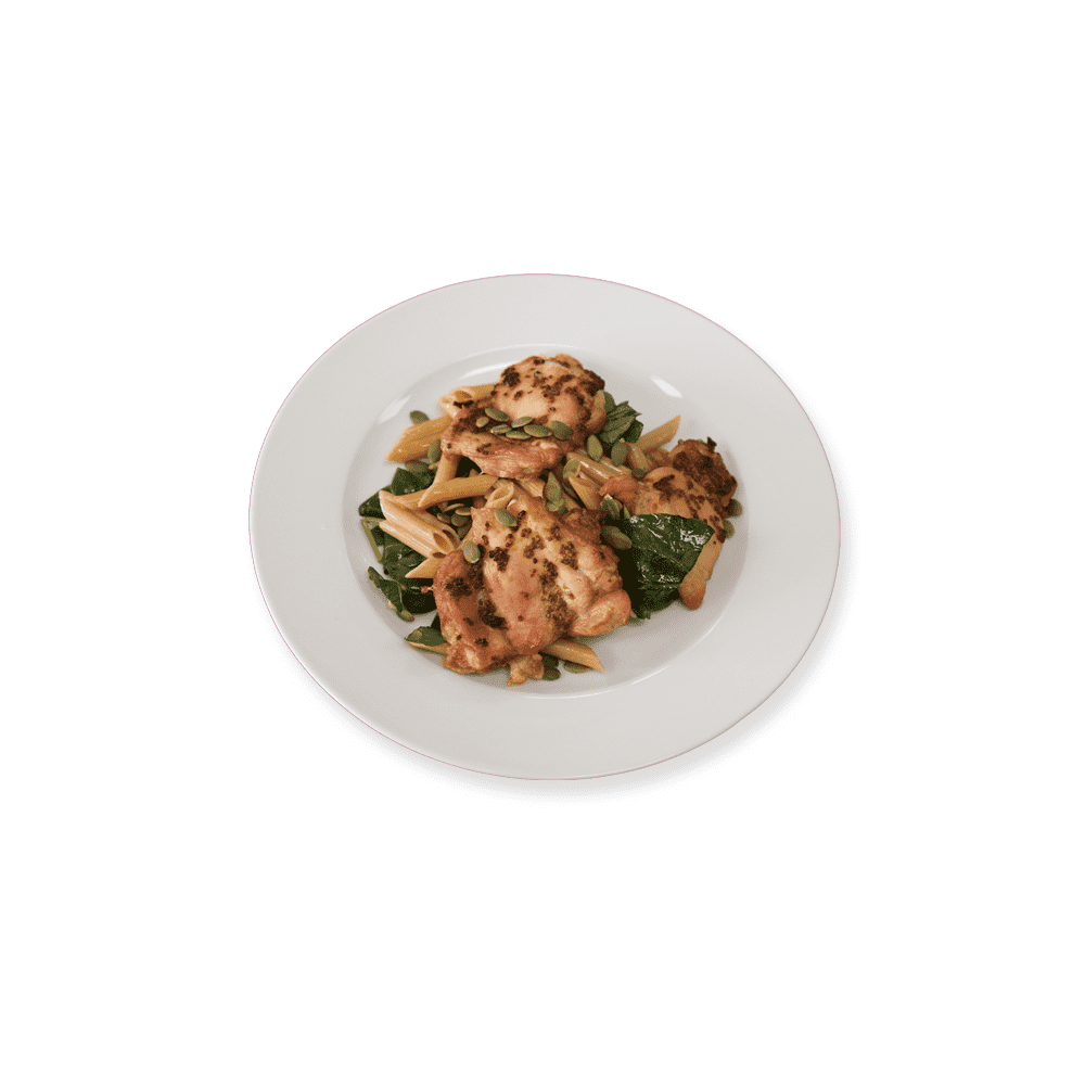 Low Carb Chicken Penne and Greens