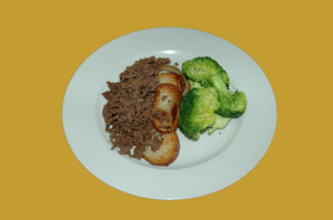 Lean Beef with Roast Potato and Broccoli