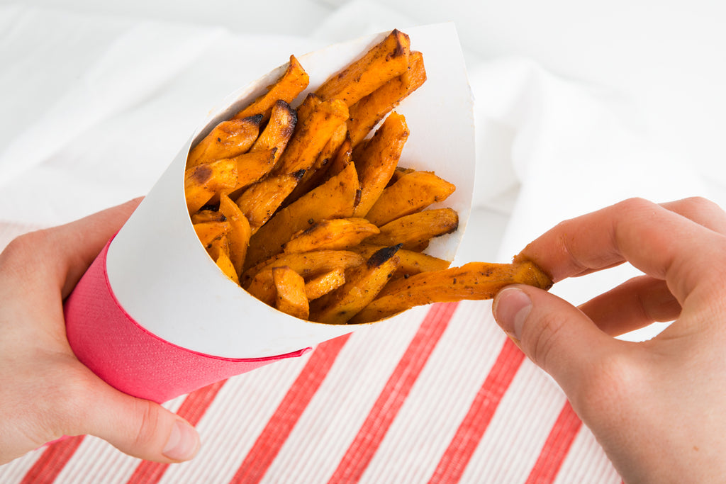 naak cricket powder sweet potato fries