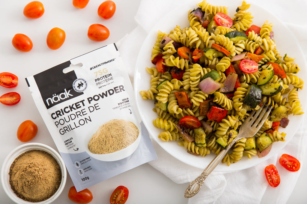 pasta salad naak cricket powder