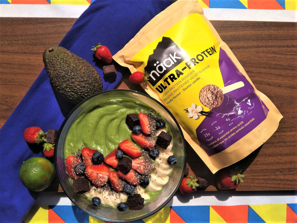 Super green protein smoothie bowl