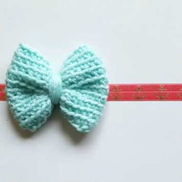 Crochet Big Bow Anchor Headband Hair Accessory Newborn Baby Infant Toddler Child Adult Photography Photo Prop Handmade Baby Shower Gift Present - Red Lollipop Boutique
