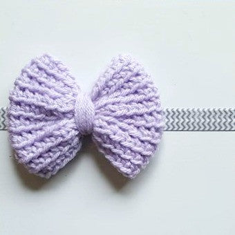 Crochet Big Bow Chevron Headband Hair Accessory Newborn Baby Infant Toddler Child Adult Photography Photo Prop Handmade Baby Shower Gift Present - Red Lollipop Boutique