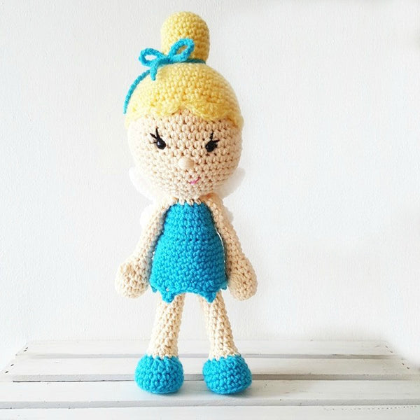 Crochet Fairy Princess Toy Doll Baby Infant Toddler Developmental Toy Handmade Baby Nursery Decor - Red Lollipop Boutique