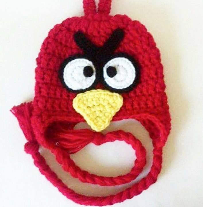 Crochet Red Angry Birds Beanie Hat Newborn Baby Infant Toddler Child Adult Handmade - Red Lollipop Boutique