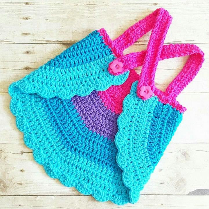 Crochet Baby Swing Top Halter Top Tank Top Backless Shirt Newborn