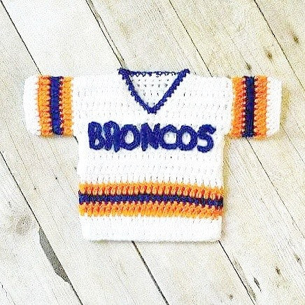 Crochet Baby Football Hockey Jersey Uniform Shirt Costume Newborn Infant Handmade Photography Photo Prop Baby Shower Gift - Red Lollipop Boutique