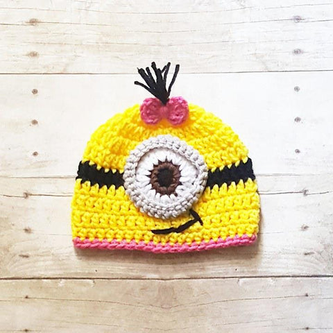 Crochet Baby Minion Hat Beanie Handmade Infant Newborn Baby Toddler Child  Adult Photography Photo Prop Baby 864616b2e4e0