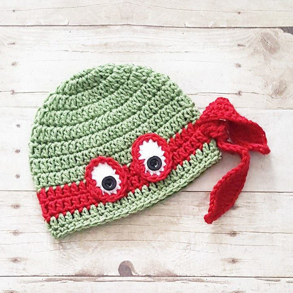 Crochet Baby Ninja Turtle Hat Beanie Diaper Cover Set Newborn Infant Handmade Photography Photo Prop Baby Shower Gift