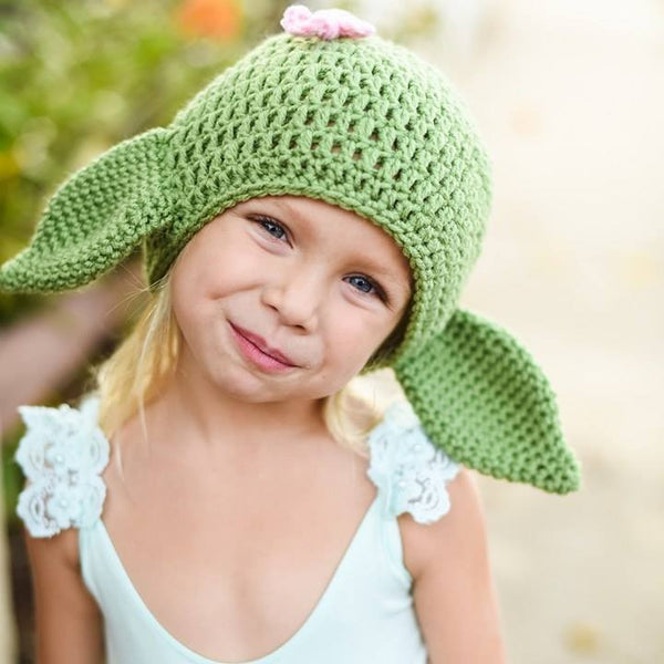 Crochet Baby Girl Yoda Hat Beanie Star Wars Inspired Newborn Infant Toddler Child Adult Photography Prop Handmade Baby Shower Gift - Red Lollipop Boutique