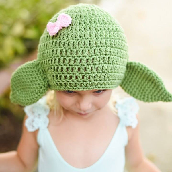 Crochet Baby Girl Yoda Hat Beanie Star Wars Inspired Newborn Infant Toddler Child Adult Photography Prop Handmade Baby Shower Gift