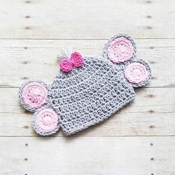 Crochet Elephant Hat Beanie Infant Newborn Baby Toddler Child Adult Handmade Photography Photo Prop Baby Shower Gift - Red Lollipop Boutique