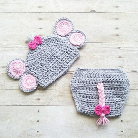 8f508d8b0f7 Red Lollipop Boutique. From   30.00. Crochet Baby Elephant Hat Beanie  Diaper Cover Set Newborn Infant Handmade Photography Photo Prop Baby Shower