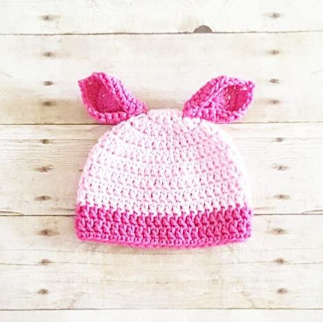 Crochet Baby Piglet Pig Winnie The Pooh Hat Beanie Handmade Photography Photo Prop Baby Shower Gift Present - Red Lollipop Boutique