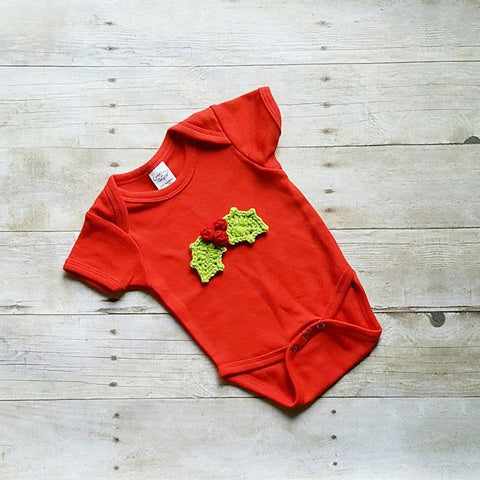 Baby Christmas Onesie Toddler Shirt Holly Snowman Christmas Tree Candy Cane Handmade Baby Shower Gift Present - Red Lollipop Boutique